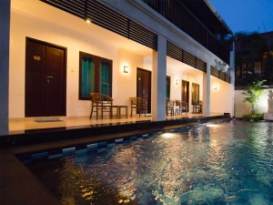 Learn to scuba dive diving Bali Sanur Guest house at night