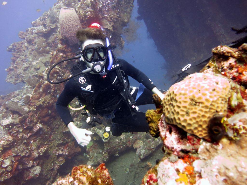 Bali Open water course shipwreck