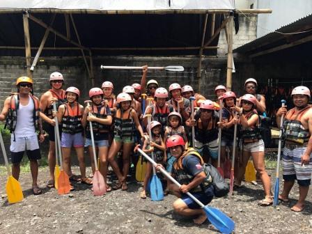 Team day out Bali Rafting