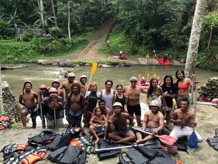 Staff day out Bali Rafting