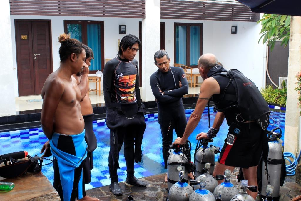 Set up Sidemount diving