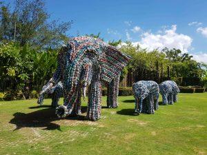 Elephants bali big corner garden