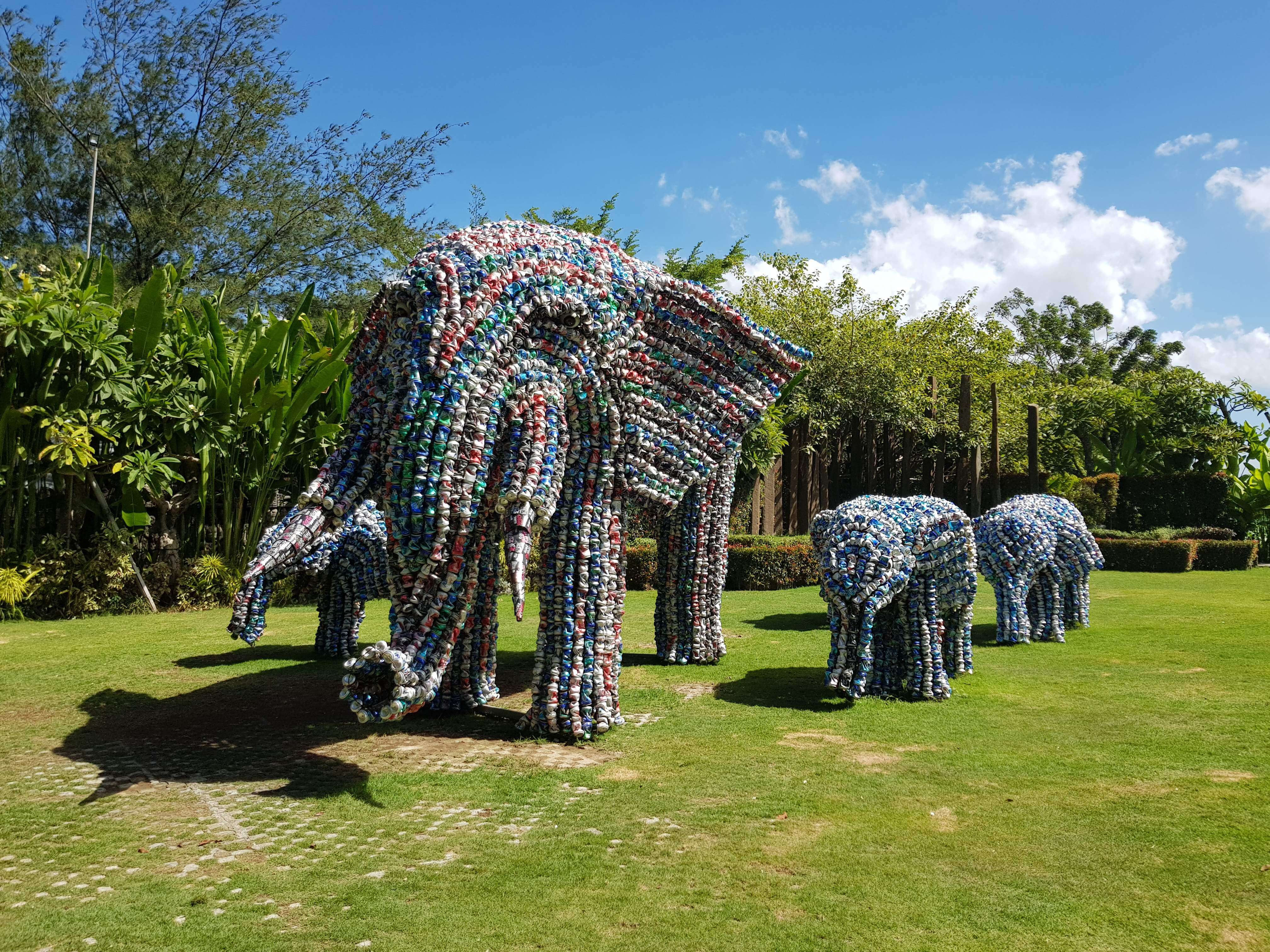 Elephants bali big corner garden