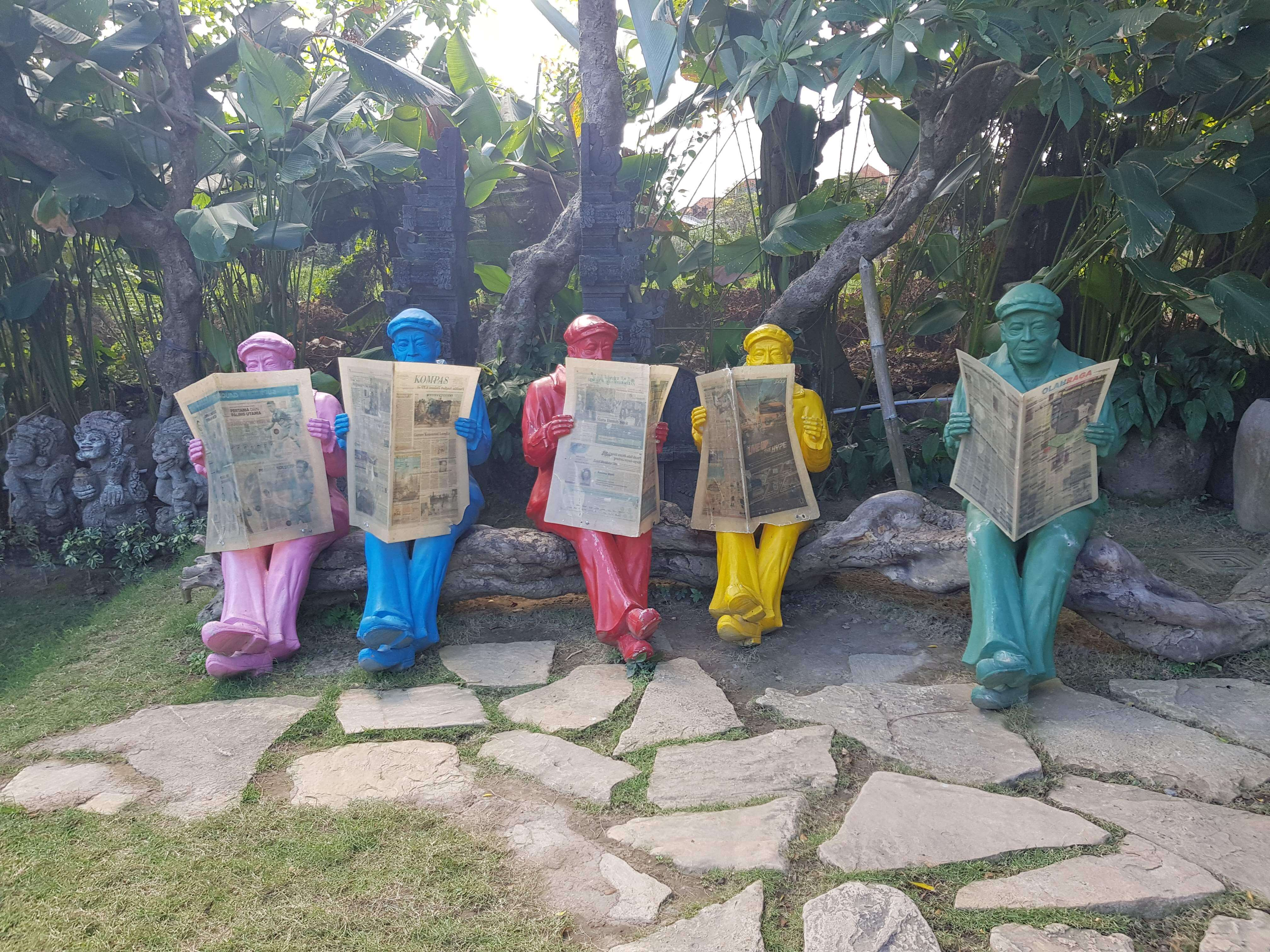 newspaper bali big corner garden