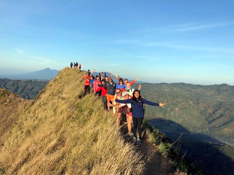 Mt Batur Bali climb a volcano the top