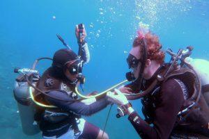 PADI Rescue diver course alternate air source